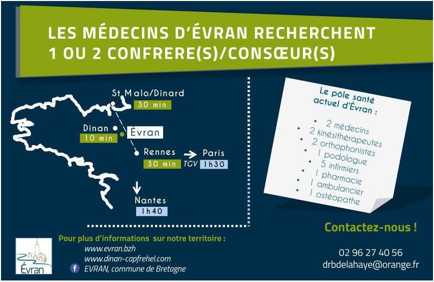 Recherche de médecins sur Evran